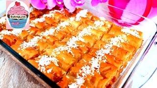 Baklava mit Kokosfüllung / Orientalische Süßspeise / Ramadan / türkische Nachspeise