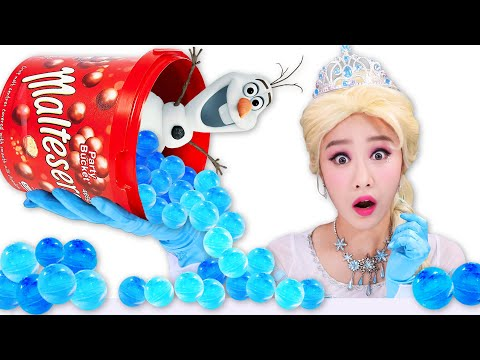 Frozen Elsa Ice maltesers Mukbang 겨울왕국 엘사 얼음 몰티져스 JiniYum 지니얌