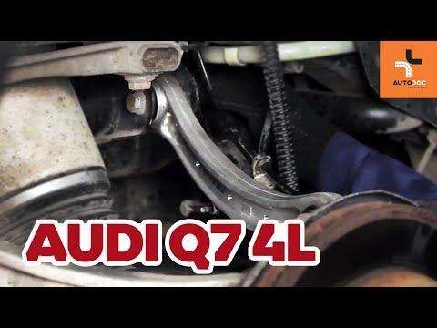 How to replace independent wheel suspension rear upper control arm Audi Q7 4L TUTORIAL | AUTODOC