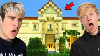 VISITING OUR ACTUAL HOUSE IN MINECRAFT w/ Sam
