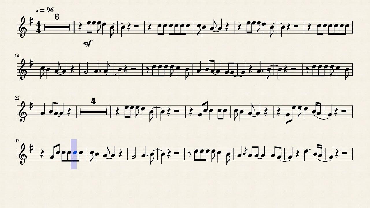 Shallow Lady Gaga Flute Solo Music Free Music Sheet [Paleo Studio]  Play-along