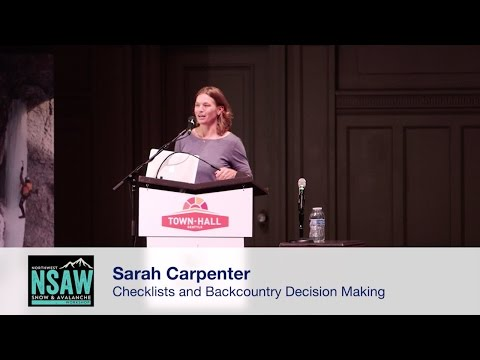 Sarah Carpenter: Checklists and Backcountry Decision-Making