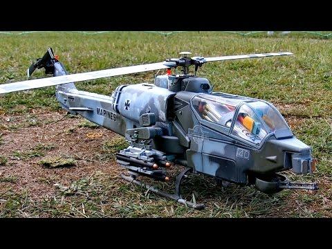 AH-1 COBRA RC SCALE MODEL HELICOPTER 450 SIZE FLIGHT DEMONSTRATION /  Damelang Germany June 2016