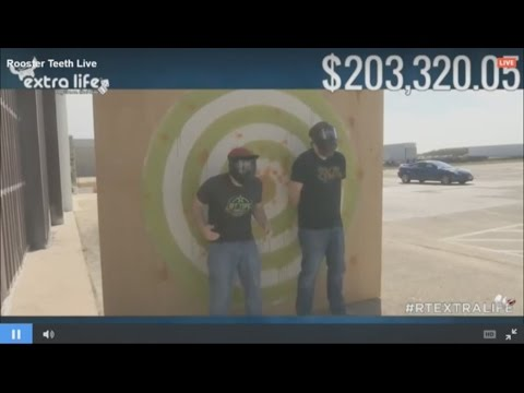Jack and Jeremy get shot with paint balls by their wives  Extra Life 2016