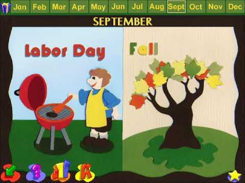 JumpStart Kindergarten (1998) BGM - Bulletin Board (August