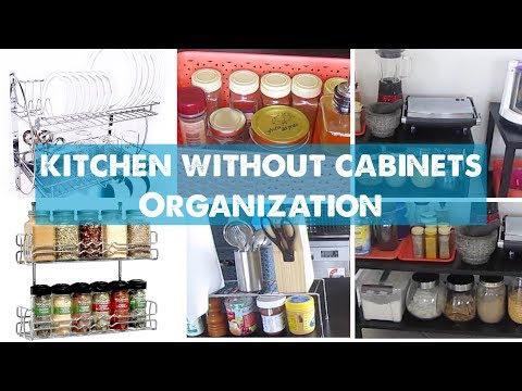 How to Organise Kitchen Without Cabinets | Small Indian Kitchen Organisation Ideas