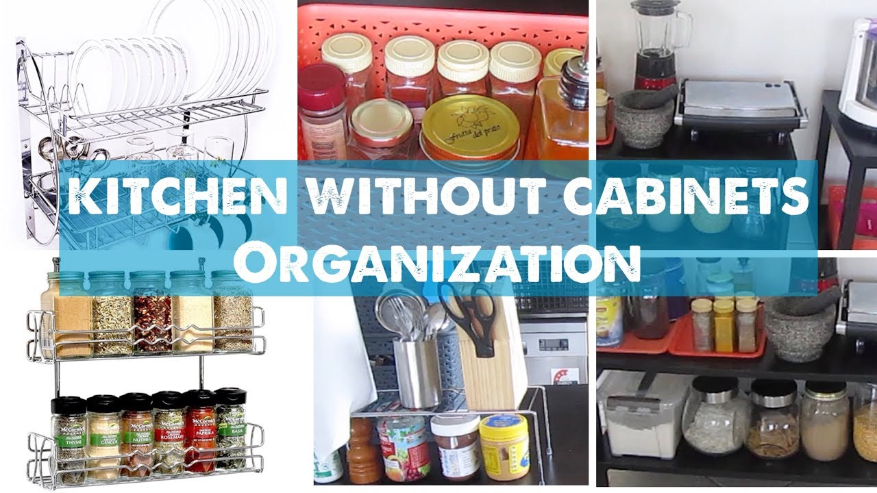 How to Organise Kitchen Without Cabinets | Small Indian Kitchen ...