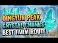 - Qingyun Peak Crystal Chunks BEST Farm Route Fast and Efficient! | Genshin Impact