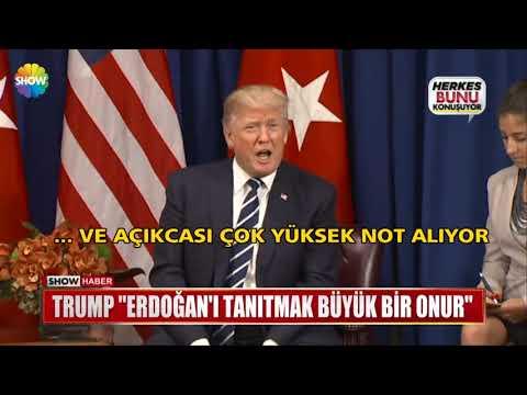 """Trump: """"Erdoğan'ı tanıtmak büyük bir onur"""""""