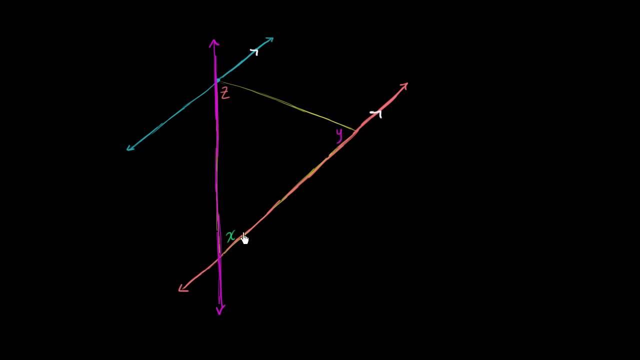 सिद्ध करें कि त्रिभुज के तीनों कोणों का योग 180 डिग्री होता है |