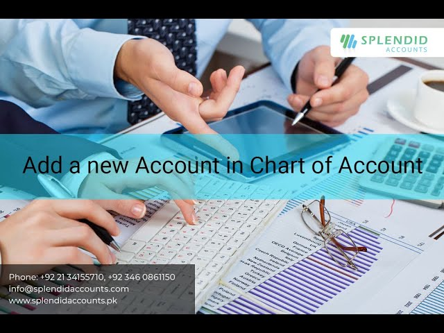 How to create a new Account in Chart of Accounts  in Splendid Accounts - ERP