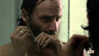 The Walking Dead Season 5: Episode 12 - Rick shaving his beard