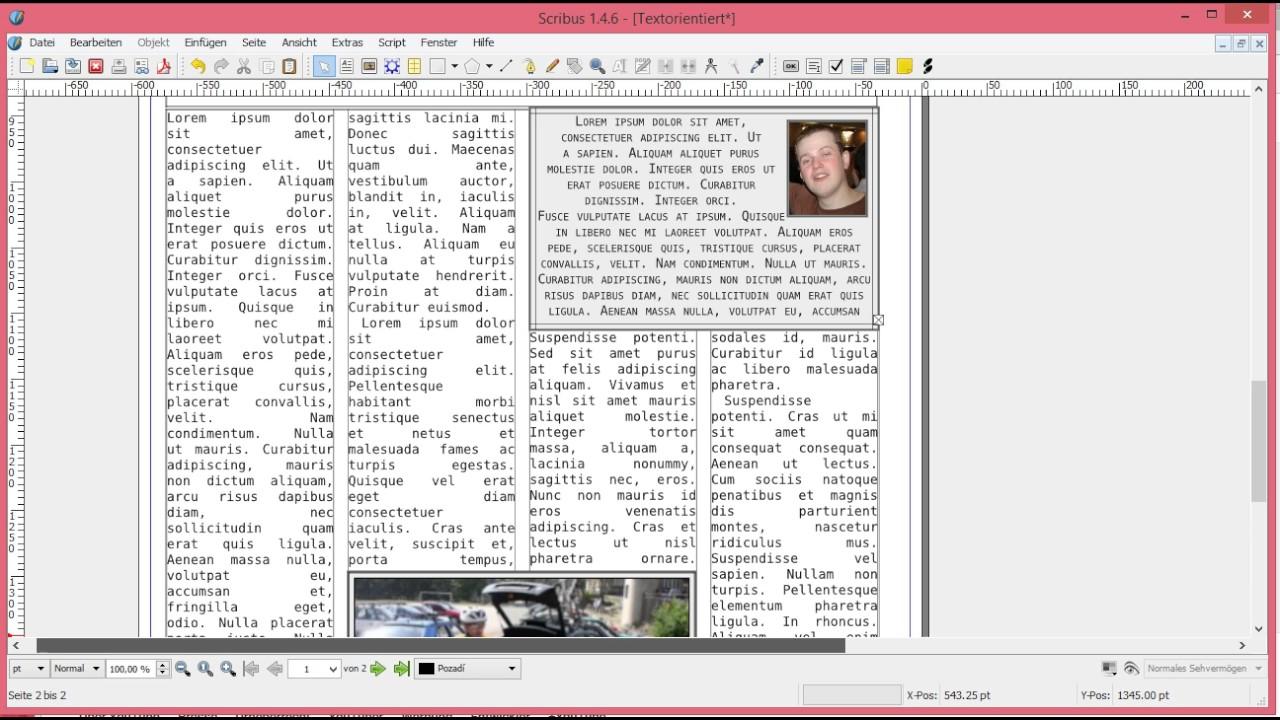 Scribus Vorlagen Zeitung - YouTube