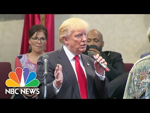 Donald Trump Says He's 'Very, Very Troubled' By Tulsa, Charlotte Shootings | NBC News