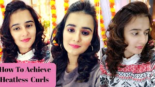 How To Achieve Heatless Curls Which Stays Long using Zero Chemical Hair Gel SWATI BHAMBRA