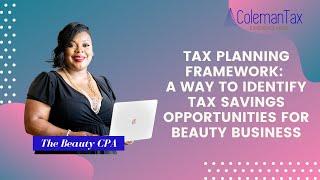 Tax Planning Framework: A Way to Identify Tax Savings Opportunities