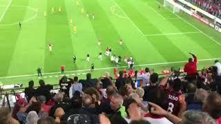Milan - Roma 2-1 Speaker annuncia il gol di Cutrone