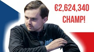 World Series of Poker Europe €100,000 Super High Roller Champ!
