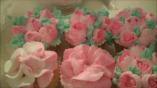 Aunt Duddie Decorates the Cupcakes With Russian Tips(HERE'S THE BUTTERCREAM RECIPE: https://youtu.be/lEsK5sx7va8 This buttercream is too soft for pretty flowers. I'd add at least one or two extra cups of sifted ..., 2016-06-03T21:34:03.000Z)