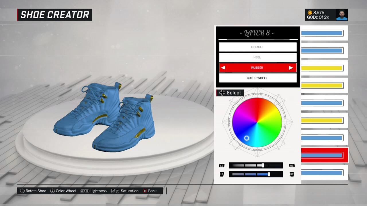 85290eaac15 NBA 2K17 Shoe Creator - Jordan 12 Sky Gold Customs - YouTube