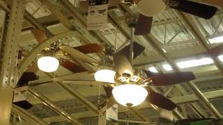 Ceiling fans and Dayton Industrial ceiling fans at Home Depot (2015)