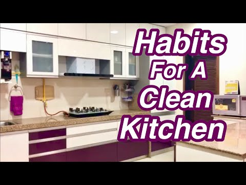 21 Everyday Habits For A  Clean & Organized Kitchen In Hindi / Kitchen Cleaning Tips / Priya Vlogz