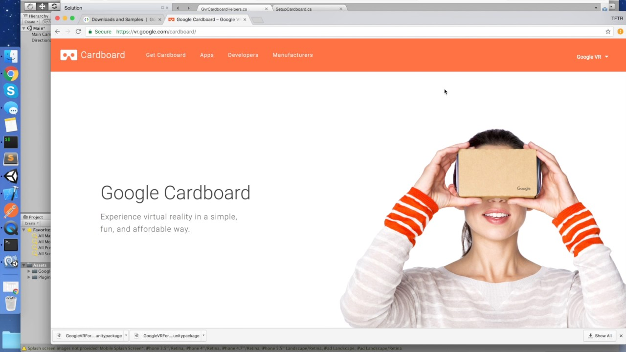 googlevr cardboard set the default viewer profile in unity3d youtube