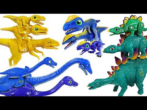 Dino Mecard Double figure 19 set! Tiny dinosaur Stegosaurus, Dilophosaurus, Deino! - DuDuPopTOY