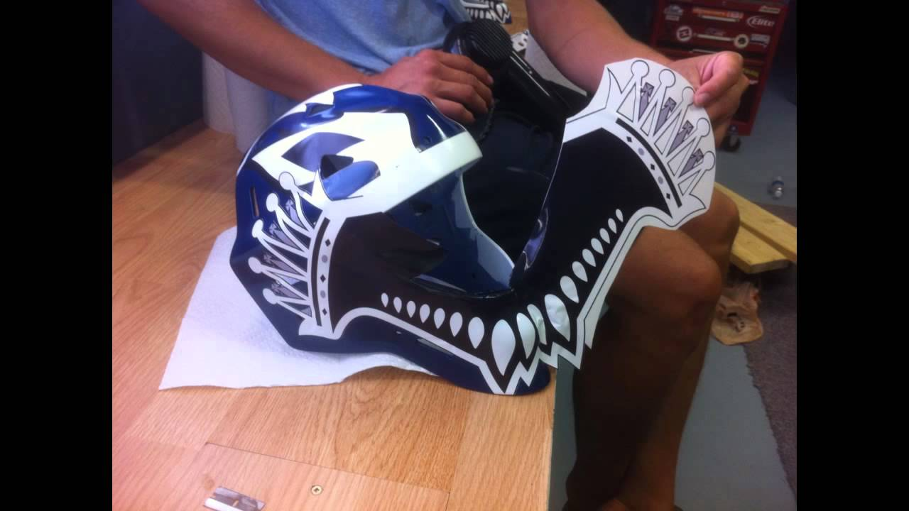 How to custom paint your hockey goalie mask felix potvin for Bauer goalie mask template