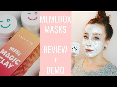 MEMEBOX // REVIEW AND DEMO OF 6 MEMEBOX FACE MASKS
