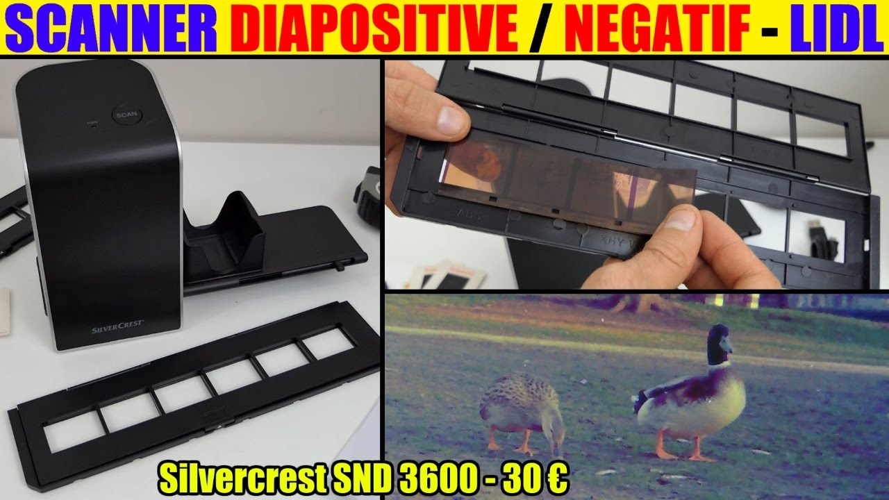 Lidl Silvercrest Negativ Digitalisierer Scanner Diapositive Négatif Lidl Silvercrest Présentation Negative Digitiser Photo Slide Unboxing
