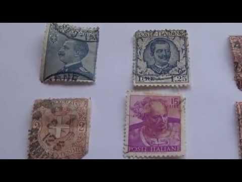 Old Poste Italiane Postage Stamps