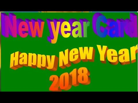 happy new year greetings card 2018 handmade greeting cards for special occasions and birthday