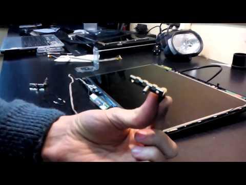 разборка ноутбука MSI MS-163B VR610X замена разбитой матрицы