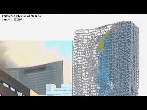WTC  7 Test -  NIST Sim vs Realtime Sync