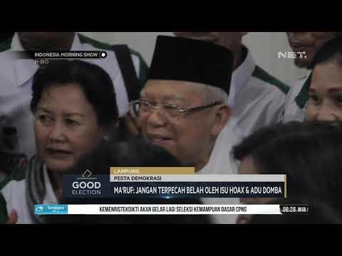 Ma'ruf Amin Himbau Umat Lampung Untuk Tidak Terbecah Belah Oleh Isu Hoaks dan Adu DOmba   IMS Mp3