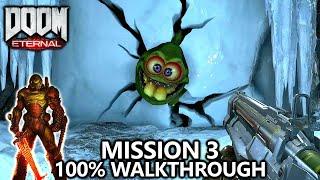 DOOM Eternal - Mission 3 - 100% Walkthrough - All Secrets, Collectibles, Upgrades & Challenges