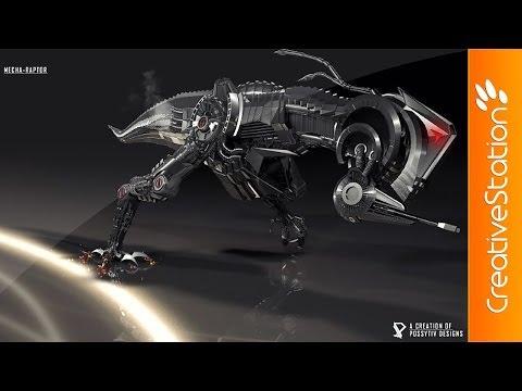 Mecha-Raptor - Speed art ( #Cinema 4D )   CreativeStation