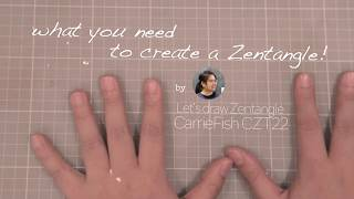 CarrieFish Zentangle - Zentangle 101 by Tommy Kwan