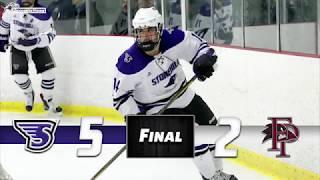 Stonehill Ice Hockey Highlights vs. Franklin Pierce