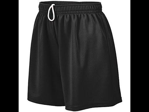 Augusta Sportswear Womens Wicking Mesh Short Black