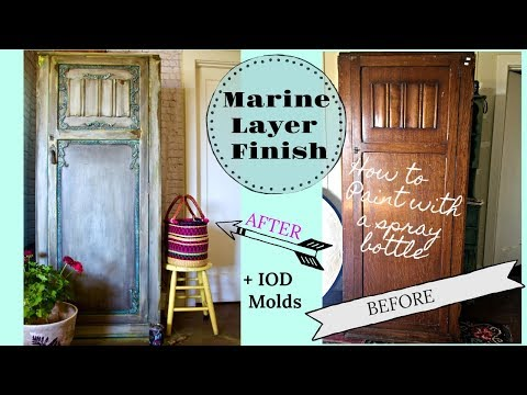 How to Blend Paint with a Spray bottle and use Clay Furniture Molds