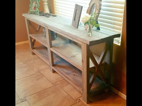 Farm Style Console Table Or Sofa Entry Whatever You Want It To Be
