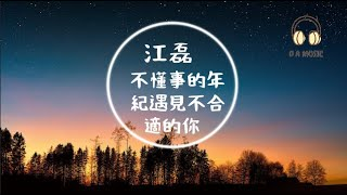 江磊-不懂事的年紀遇見不合適的你『傻傻的認為我有多重要』【動態歌詞 Lyrics】「D.A MUSIC」
