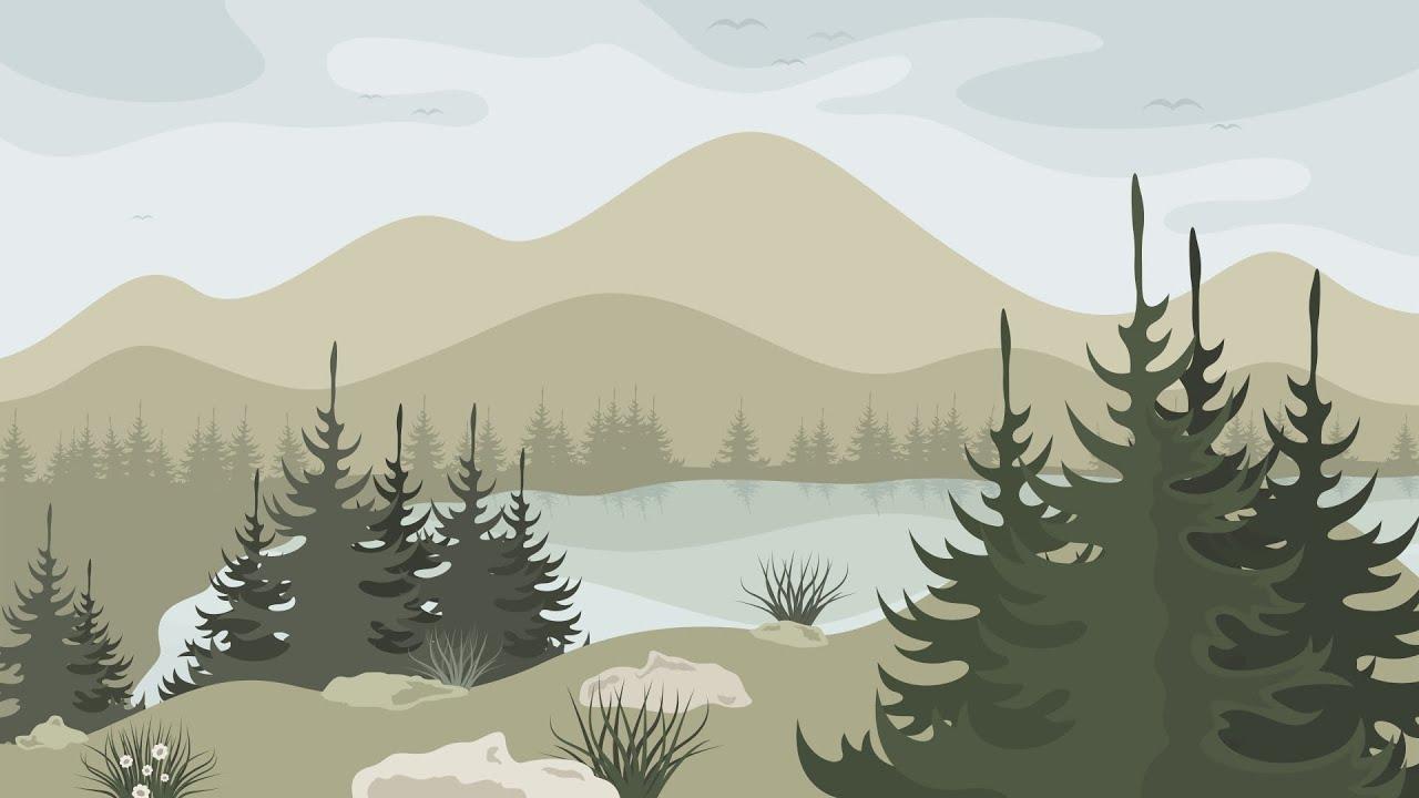 Картинки природы горы озеро рисовать
