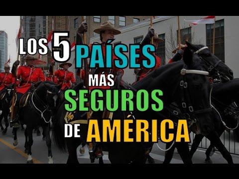 LOS 5 PAÍSES MÁS SEGUROS DE AMÉRICA