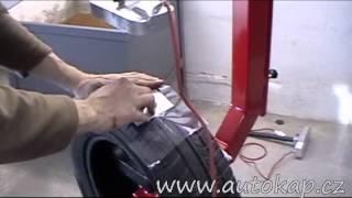 Oprava průrazu pneumatiky vulkanizací za tepla