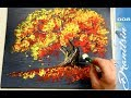 Easy Landscape | For Beginners | Painting with Q TIPS | Acrylics | Painting Demonstration | 008