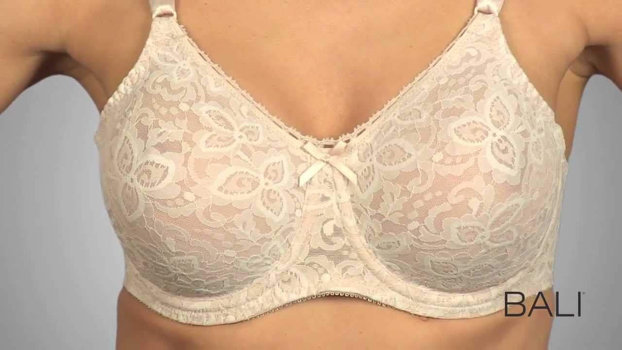 Bali® Lace 'n Smooth® Seamless Underwire Bra 3432 - YouTube