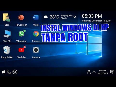Sistem operasi windows memang diperuntukan untuk komputer atau laptop karena OS ini yang mendukung s.